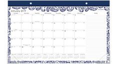 Paige Compact Monthly Desk Pad Calendar (Item # D1141-705)