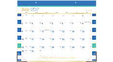 Color Pop Academic Monthly Desk Pad (Item # D173-704A)