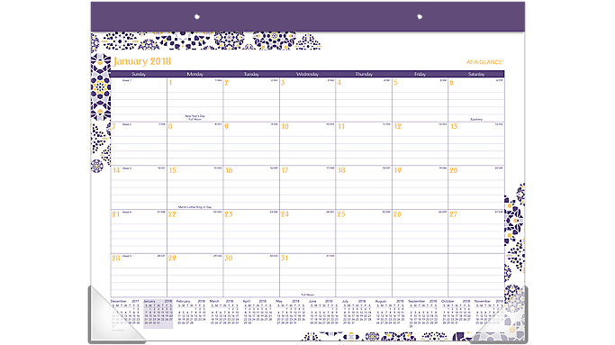 AT-A-GLANCE Abby Monthly Desk Pad  (D184-704)