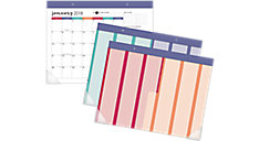 Harmony Monthly Desk Pad with Reusable Stickers (Item # D6099-704)