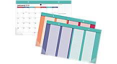 Harmony Compact Monthly Desk Pad with Reusable Stickers (Item # D6099-705)
