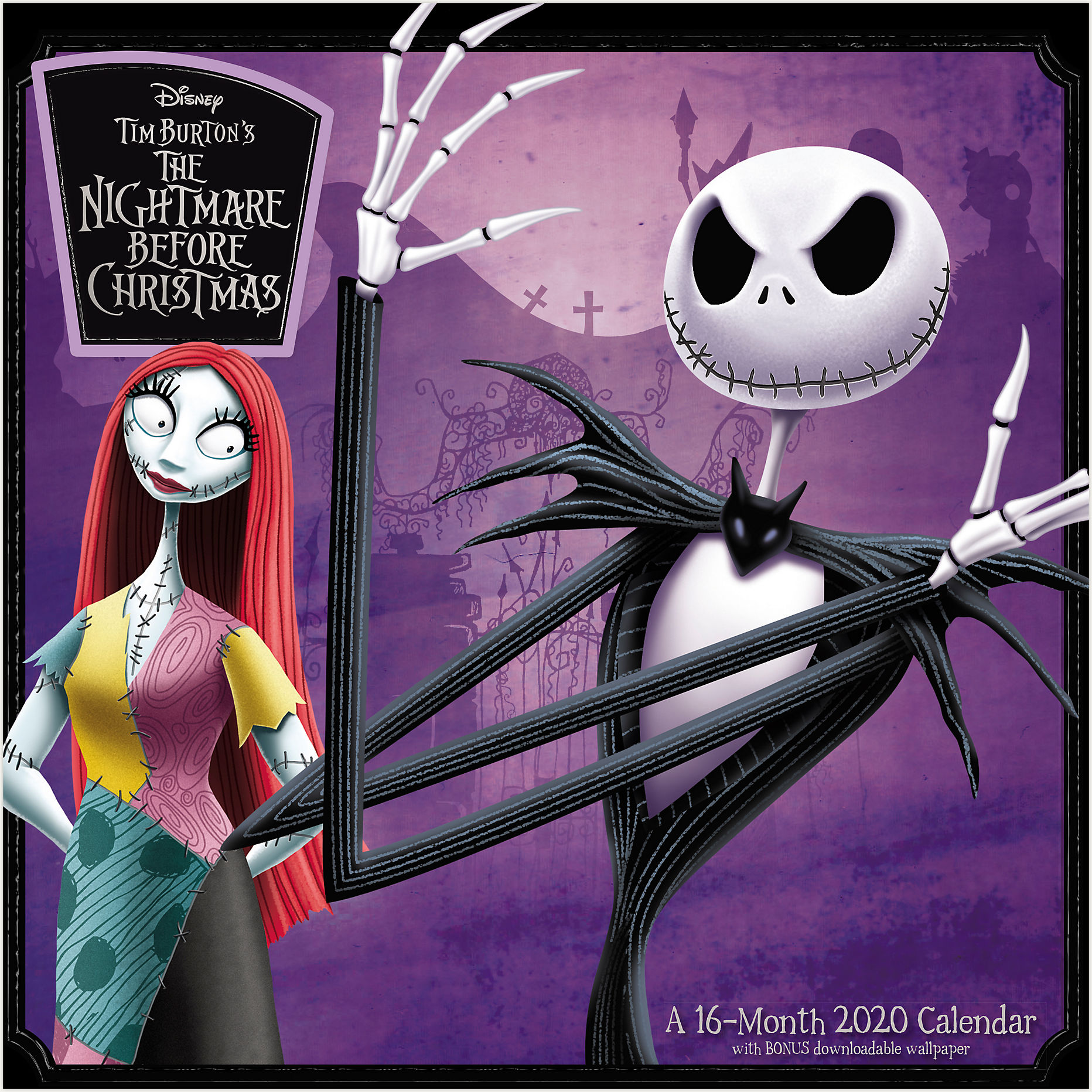 Disney The Nightmare Before Christmas 12x12 Monthly Wall