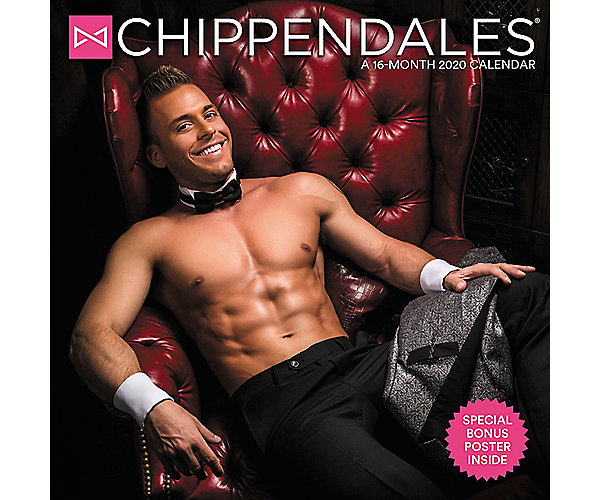Chippendales 12x12 Monthly Wall Calendar Ddd958 Mead