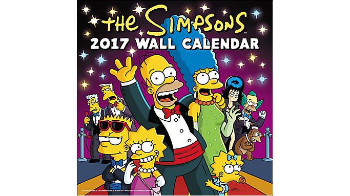 Day Dream 2017 The Simpsons Wall Calendar - Decorative Calendars 900630