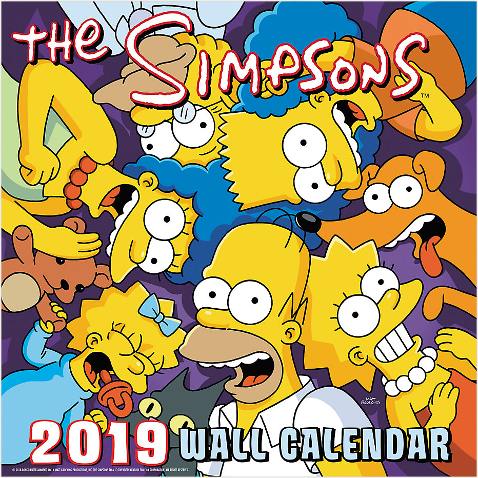 The Simpsons Wall Calendar | DDD986 | Day Dream