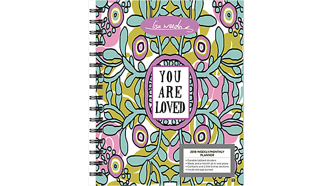 Day Dream Lisa Weedn Weekly-Monthly Planner with Tabs  (DDEN17)