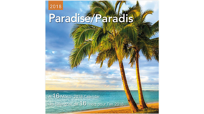 Day Dream Paradise Bilingual Mini Wall Calendars  (DDMF45)