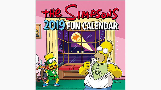 the simpsons mini wall calendar 2019
