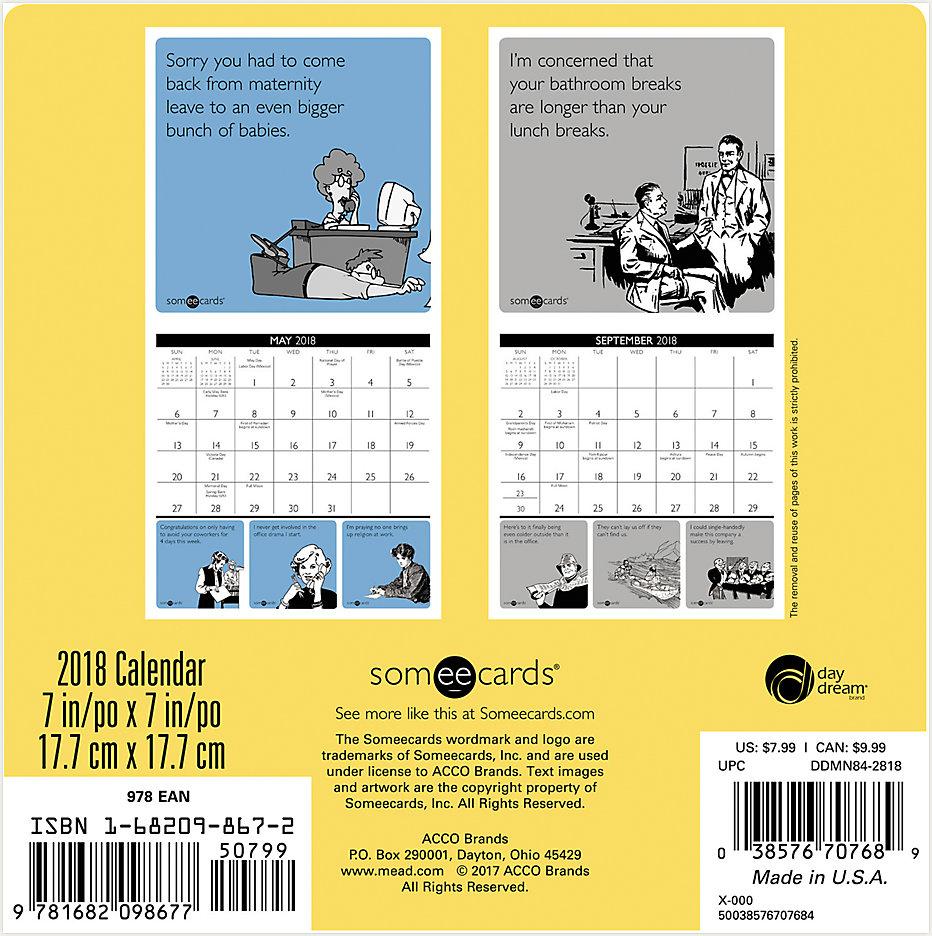 Someecards-Office Mini Wall Calendar | DDMN84 | Day Dream