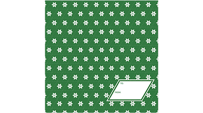 Day Dream Green Stars Calendar Gift Envelope  (DDV004)