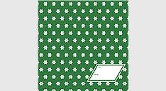 Green Stars Calendar Gift Envelope (Item # DDV004)