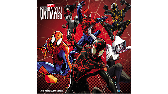 Day Dream 2017 SPIDER-MAN UNLIMITED Wall Calendar - Decorative Calendars 901548