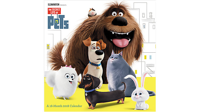 Day Dream The Secret Life of Pets Wall Calendar  (DDW133)