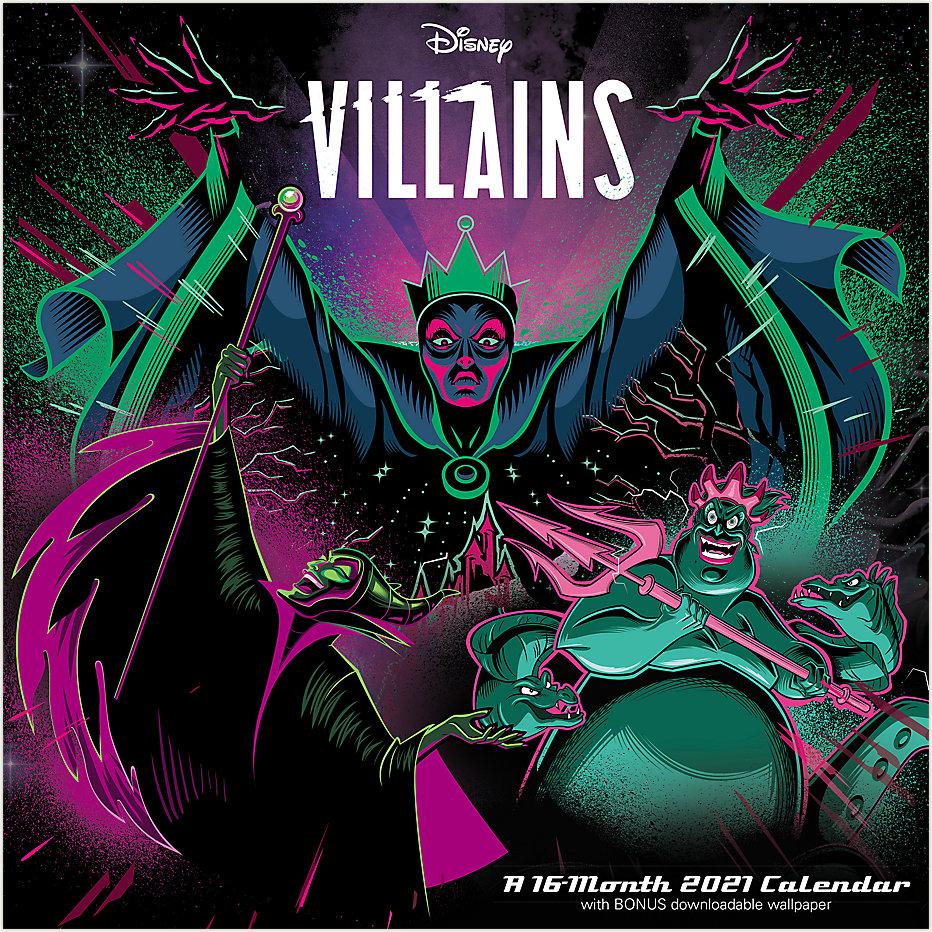 Disney Villains 12x12 Monthly Wall Calendar Ddw135 Mead