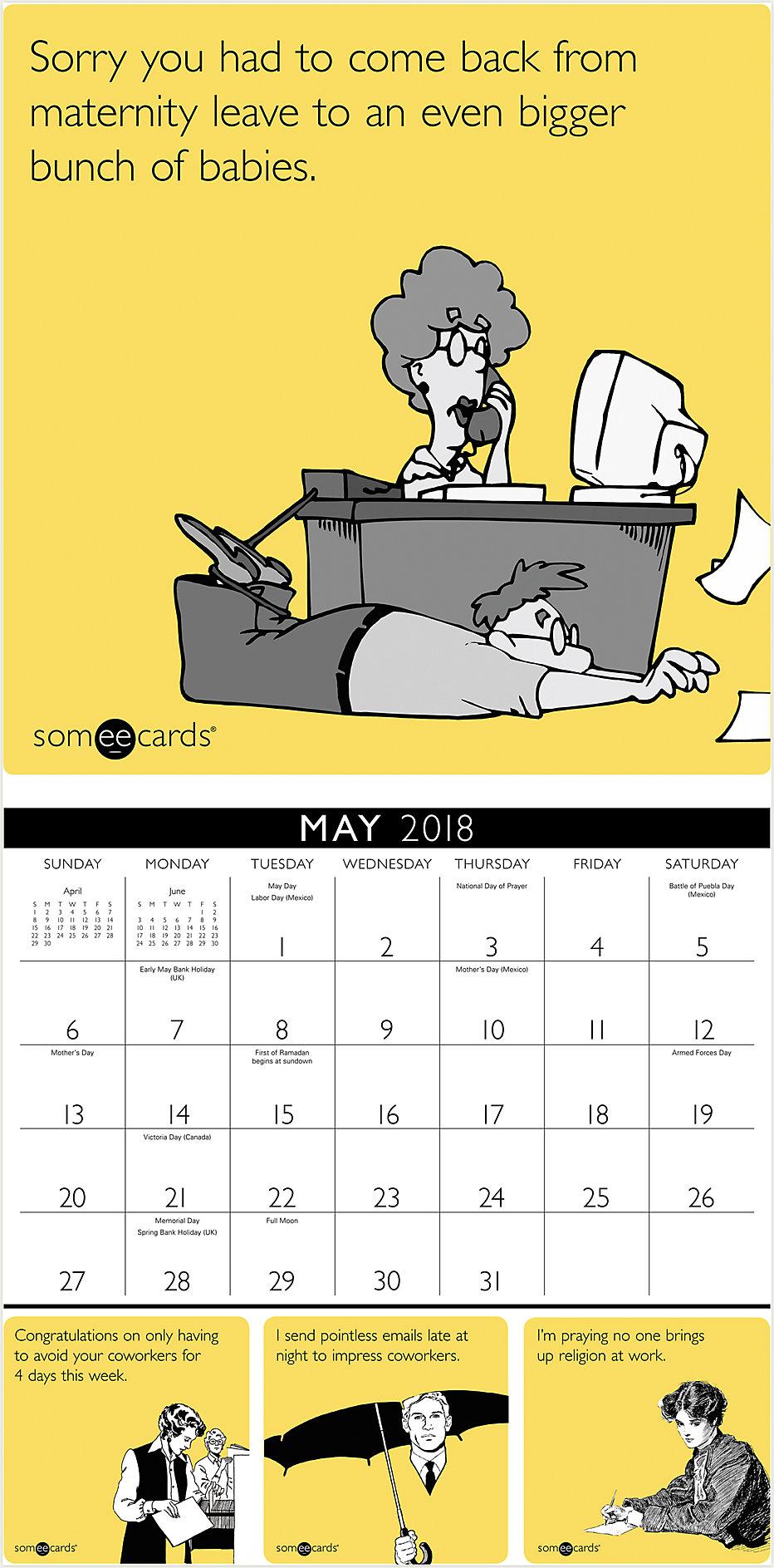 Someecards Office Wall Calendar | DDW146 | Day Dream