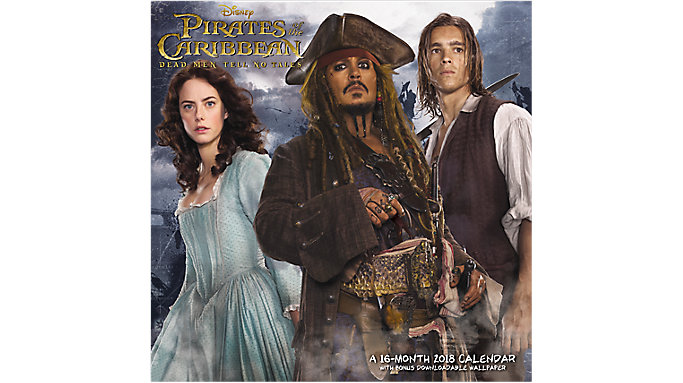 Day Dream Pirates of the Caribbean Dead Men Tell No Tales Wall Calendar  (DDW167)