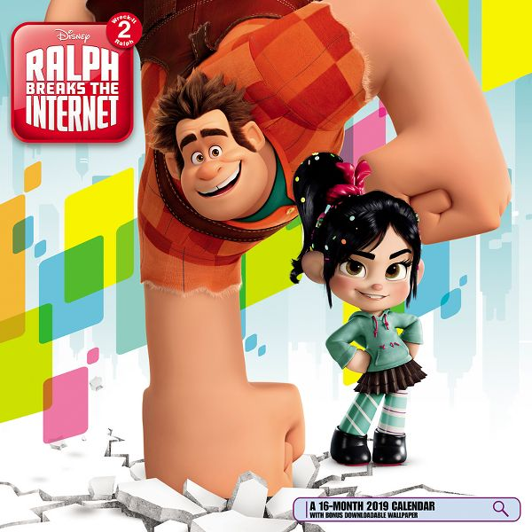 Day Dream Disney Pixar Ralph Breaks the Internet Wall Calendar - Disney