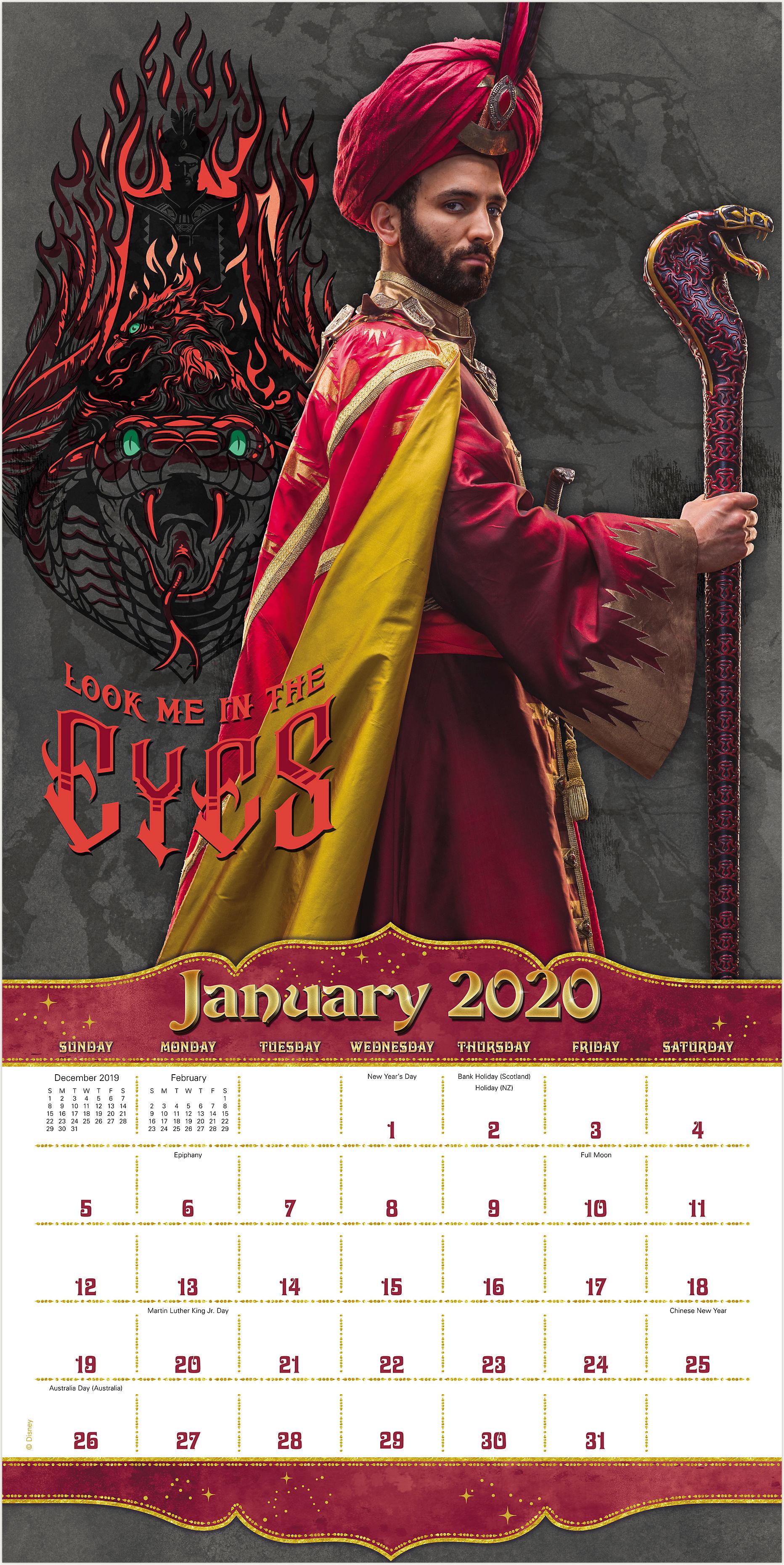 Disney Mead Disney Aladdin Live Action 12x12 Monthly Wall Calendar