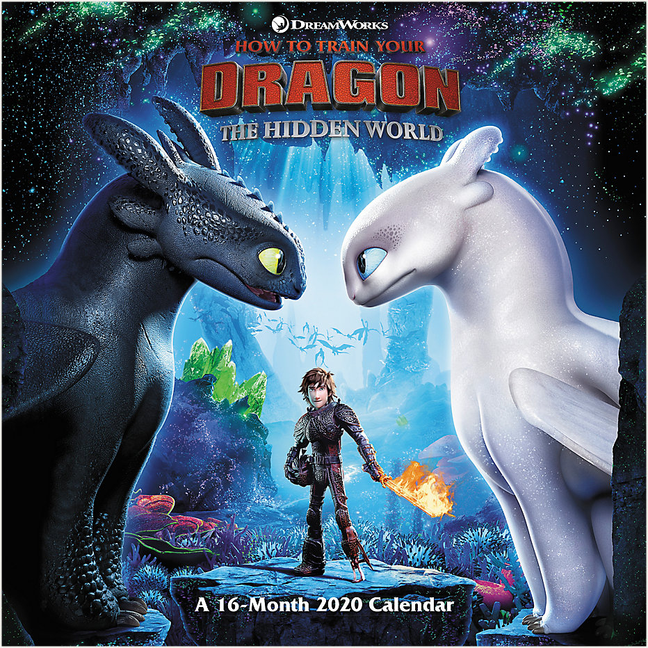 Mead How To Train Your Dragon 3 12x12 Monthly Wall Calendar