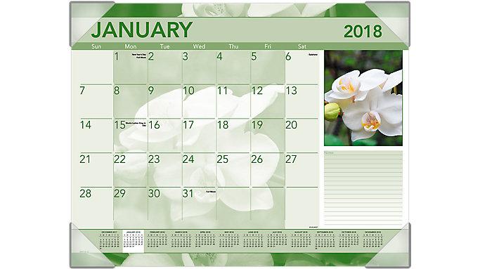 AT-A-GLANCE Antique Floral Monthly Desk Pad  (DMD135)