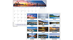 Harbor Views Monthly Desk Pad (Item # DMD145)