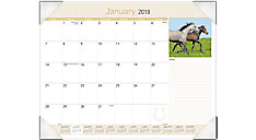Horses Monthly Desk Pad  (Item # DMD168)