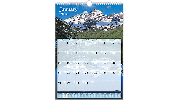 AT-A-GLANCE Scenic Monthly Wall Calendar  (DMW200)