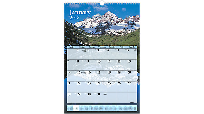AT-A-GLANCE Scenic Monthly Wall Calendar  (DMW201)