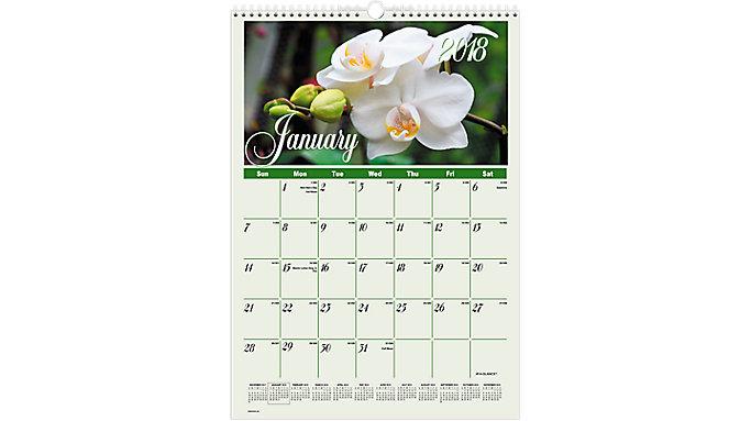 AT-A-GLANCE Flower Garden Monthly Wall Calendar  (DMW300)