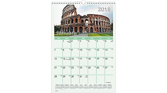 AT-A-GLANCE European Destinations Monthly Wall Calendar  (DMW402)