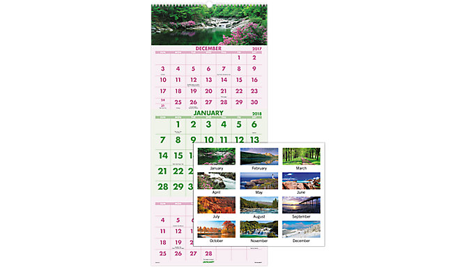 AT-A-GLANCE Scenic 3-Month Wall Calendar  (DMW503)