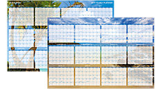 Tropical Escape 2-Sided Horizontal Erasable Wall Calendar (Item # DMWTEE)