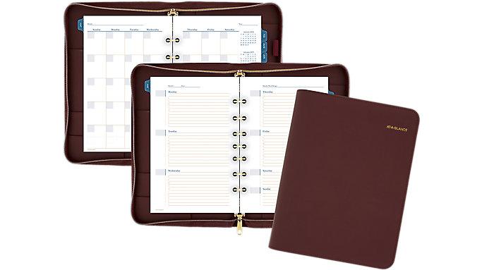 AT-A-GLANCE Faux Leather Fashion Starter Set Zip Closure Desk Size  (DR1114-040)