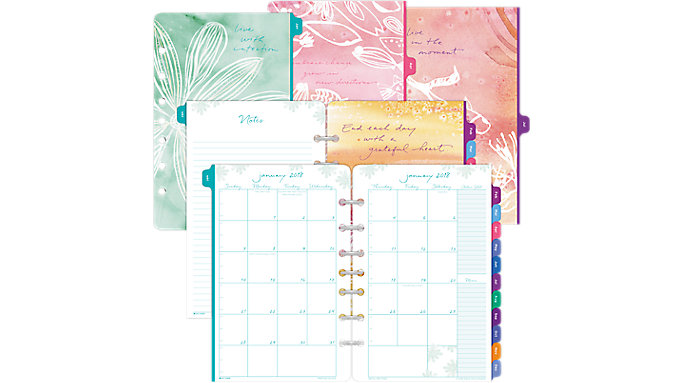 Day-Timer Kathy Davis Seascapes 2-Page-Per-Month Planner Refill Desk Size  (DT72132)