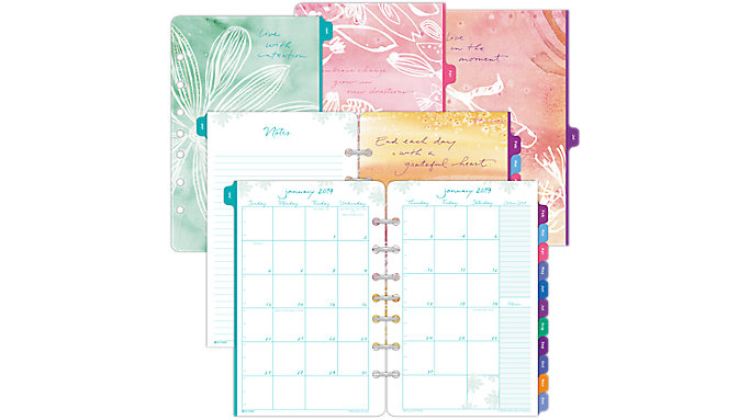 Day-Timer Kathy Davis Seascapes 2-Page-Per-Month Planner Refill Desk Size  (DT72132)
