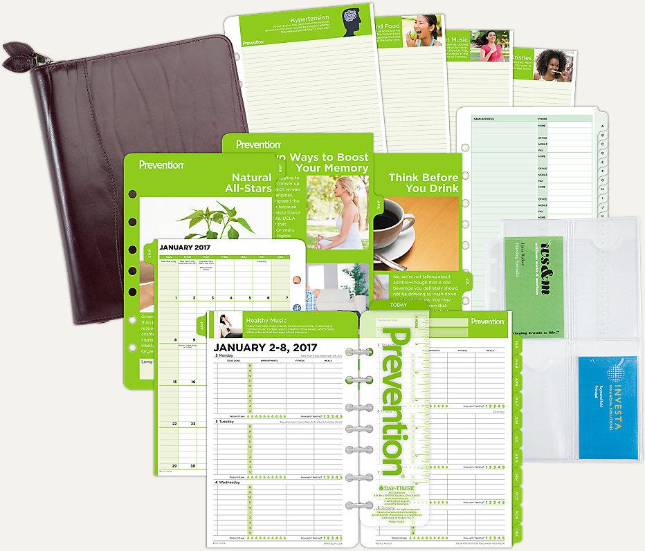 Prevention 2-Page-Per-Week Set Desk Size ( # DTP602)