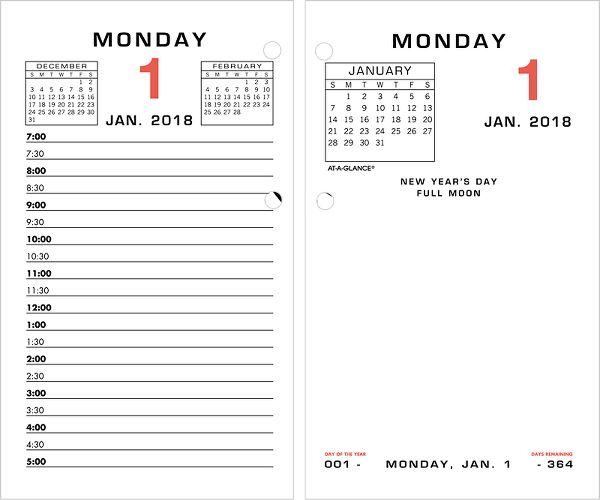 At-A-Glance Daily Desk Calendar Refill - Desk Calendar Refills