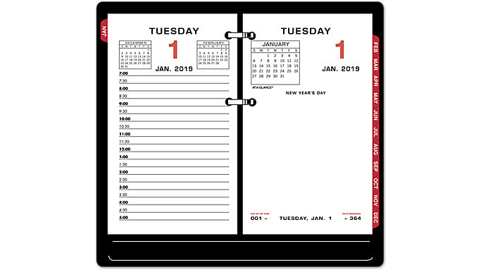 AT-A-GLANCE Daily Desk Calendar Refill  (E017)
