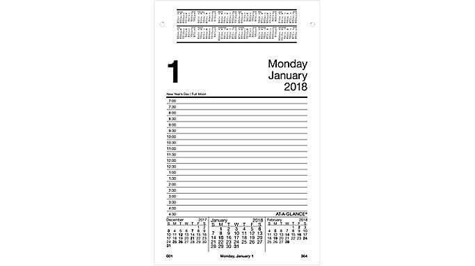AT-A-GLANCE Daily Pad Style Desk Calendar Refill  (E458)