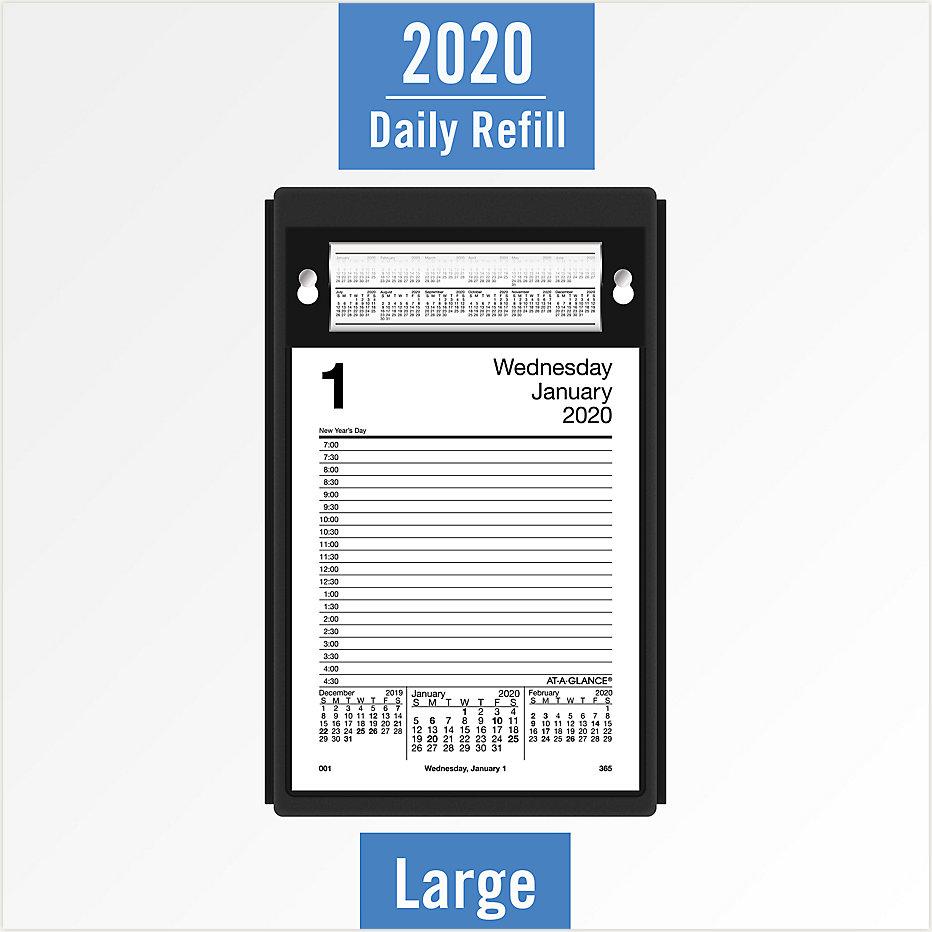 December 21 2020 Day Minder Printable Daily Calendar Daily Pad Style Desk Calendar Refill | E458 | AT A GLANCE