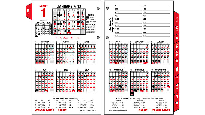 Burkharts Day Counter Desk Calendar Refill   E712   AT A GLANCE