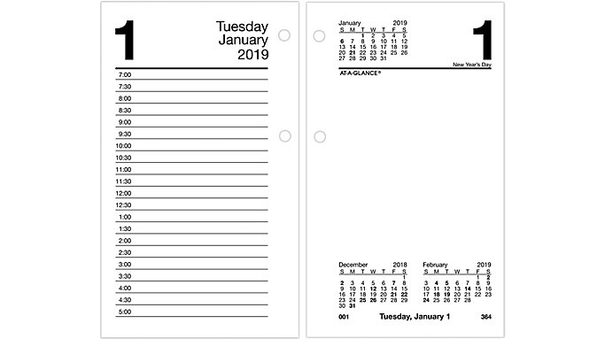 Daily Desk Calendar Refill E717 At A Glance