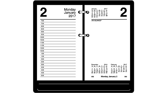AT-A-GLANCE Recycled Daily Desk Calendar Refill  (E717R)