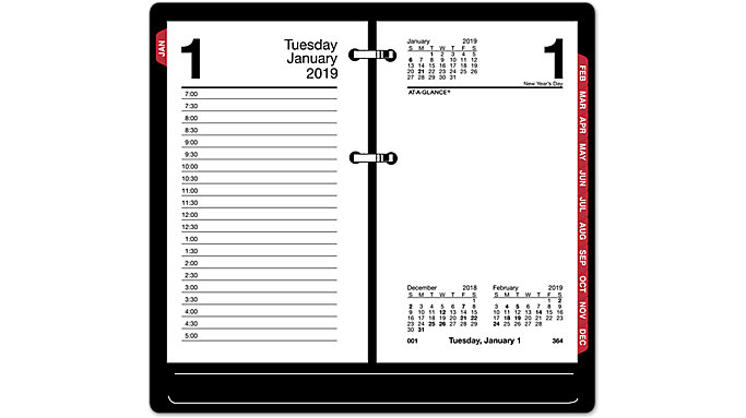 AT-A-GLANCE Daily Desk Calendar Refill with Monthly Tabs  (E717T)