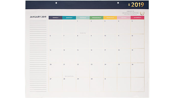 Emily Ley Monthly Desk Pad Calendar  (EL100-704)