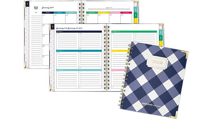 Emily Ley Weekly-Monthly Medium Hardcover Planner  (EL100-805)