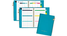Weekly-Monthly Faux Leather Planner with Zipper Pouch (Item # EL101-200)