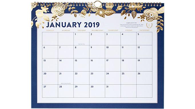Emily Ley Monthly Wall Calendar  (EL101-707)