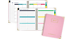 Weekly-Monthly Hardcover Planner with Bungee (Item # EL101-805)