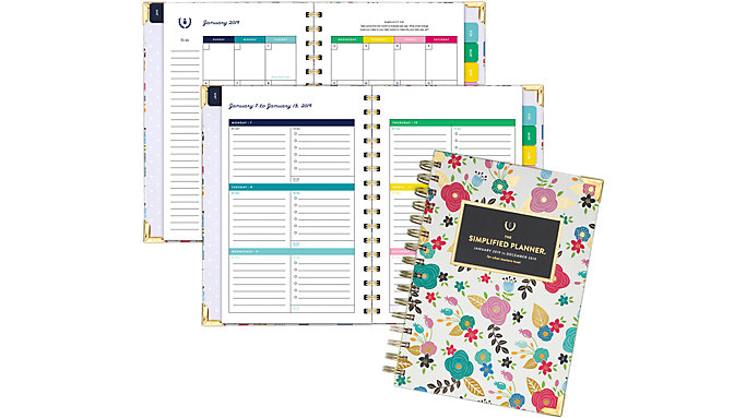 Emily Ley Weekly-Monthly Small Hardcover Planner  (EL102-200)